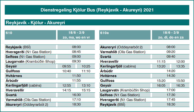 Kjölur bus 2021